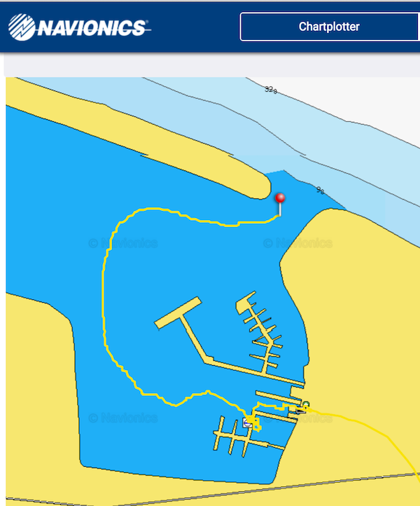 Navionics sonar charts live feedback for Navionics fishing app