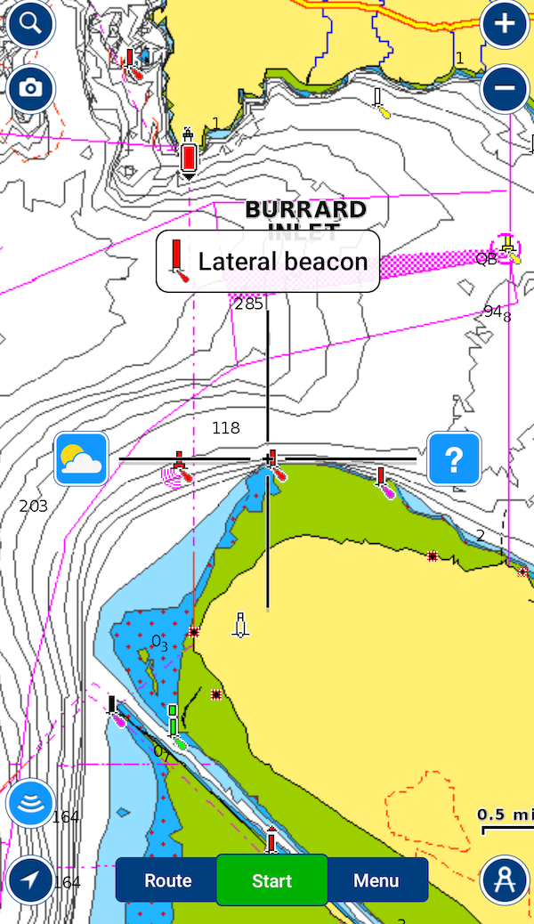 Monitor winds with navionics app sportfishing bc then you will see the current weather and below that will be an icon that says wind from there you will get this picture below that shows the wind over the gumiabroncs Image collections